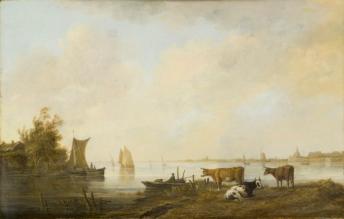 Aelbert Cuyp, View of the Maas near Dordrecht c. 1645 Los Angeles Los Angeles County Museum of Art